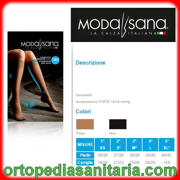 Gambaletto 140 den compressione graduata Modasana