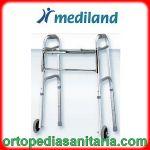 Deambulatore pieghevole 2 ruote fisse da 5mm e 2 puntali Mediland