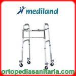 Deambulatore pieghevole con 4 ruote piroettanti Mediland