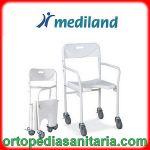 Sedia per doccia con ruote, pieghevole e pratica Mediland