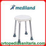 Sedile per doccia con base appoggio ruotante Mediland