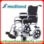 Carrozzina standard ruote piccole da transito M210 telaio grigio Mediland